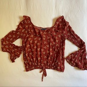 American eagle wide neck blouse